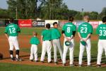 Summertime St. Patty's brought green throughout the Bee HIve in 2011...even on the field with green jerseys, hats, and bases!