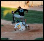 JD Dorgan slides in safe!!
