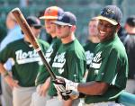 Isaac flashing a bright smile at the 2010 NWL All Star Game.