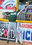 Jordan Smith making a great catch during warm ups for the 2010 All Star Game.